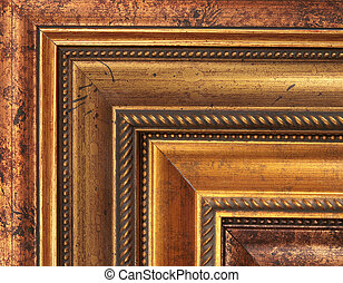 Gold picture frame samples - art frame samples in gold and ...