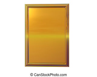 Isolated gold plaque