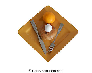 Gold Plated Breakfast (01-01) - This is a photo of breakfast...