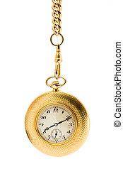 Gold Pocket watch on a chain