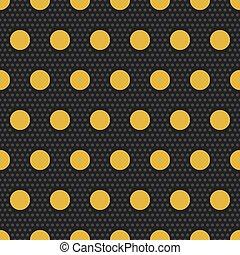 Gold polka dots seamless pattern