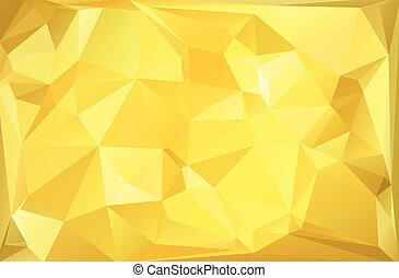 Gold  Polygonal Mosaic Background, Vector illustration,  Creative  Business Design Templates