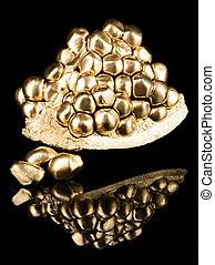 Gold pomegranate