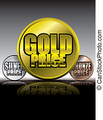 Gold price medals