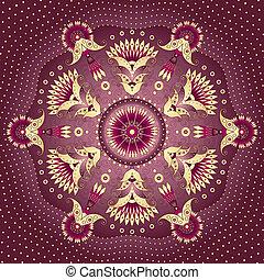 gold-purple, runder , rahmen