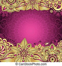 Gold Purple Vintage Frame