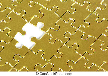 gold puzzle for background !