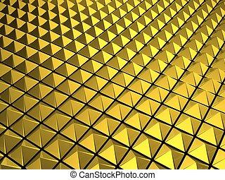 Gold pyramid background