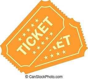 Gold raffle vector ticket icon - Gold raffle vector tickets...
