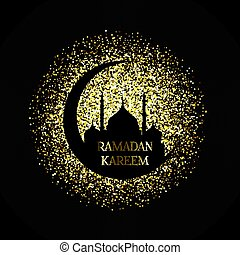 Gold ramadan kareem background 2404
