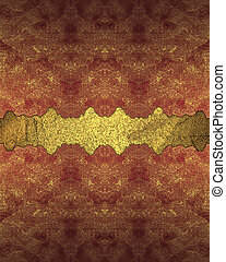 Gold red background with gold cutout. Design template