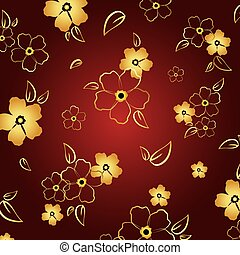 Gold & red floral background