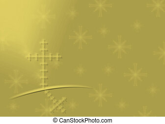 Gold Religious Christmas background