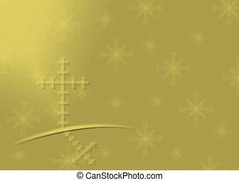 Gold Religious Christmas background
