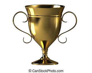 Gold reward - Award in the form of a golden cup with two...