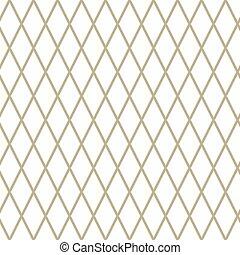 Rhombus on White Background