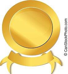 Gold ribbon anniversary seal
