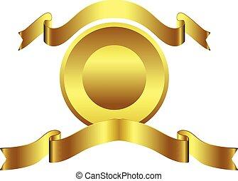 Gold ribbon coin