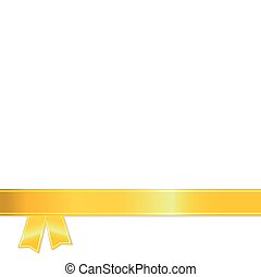 Gold Ribbon on white background