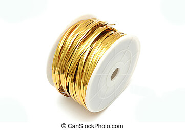 Gold Ribbon Tie