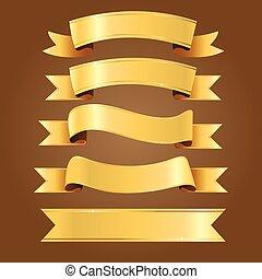 Gold Ribbon Vectors