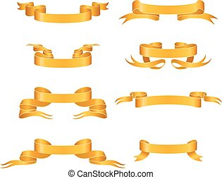Gold ribbons