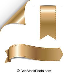 Gold Ribbons Set