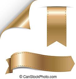 Gold Ribbons Set