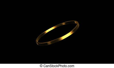 gold ring rotation 4K - 3d render of golden ring isolated...