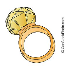 gold ring with big stone