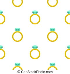 Gold ring with diamond pattern seamless