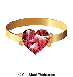 gold ring with gem