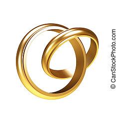 gold, ringe