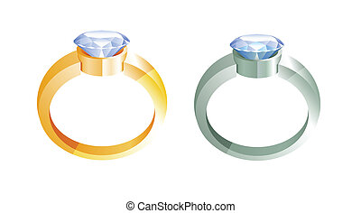 gold rings and silver rings