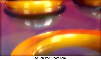 Gold Rings on Purple Background