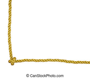 Gold rope frame corner with knot