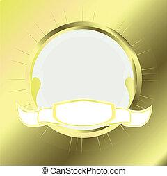 gold round frame