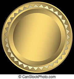 Gold round frame (vector)