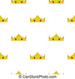 Gold royal crown pattern seamless