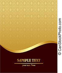 Gold royal vintage template - Vector illustration of gold...
