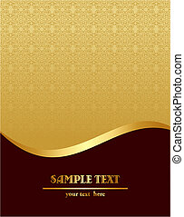 Gold royal vintage template - Vector illustration of gold...