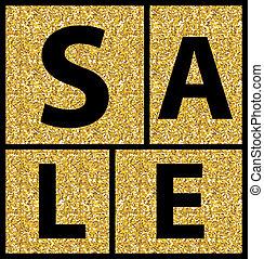 Gold Sale Banner. Illustration