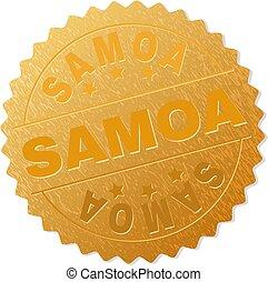 Gold SAMOA Badge Stamp