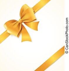 Gold Satin Ribbon. Vector - Gold Satin Ribbon. Luxury Design...