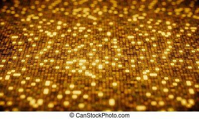 gold, screen., symbole, übertragung, edv, hexadecimal,...
