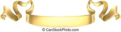 Gold Scroll Banner