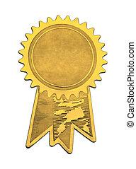 Gold Seal and Ribbons