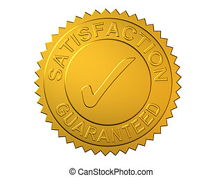 Satisfaction Guaranteed - Gold Seal Embossed with...