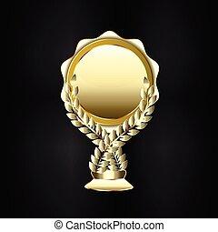 Gold seal trophy logo