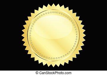 Gold seal vector